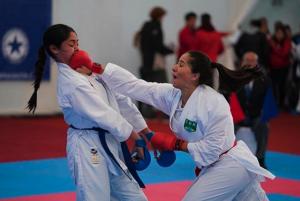 Erica Santos Karate em Açao